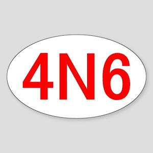 4N6 Sticker (Oval)