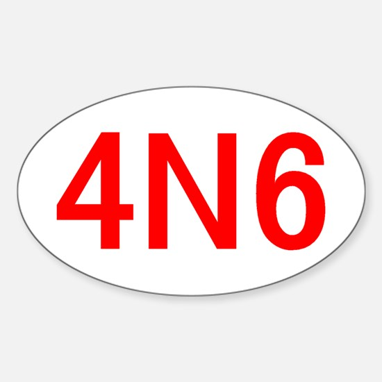 4N6 Sticker (Oval)