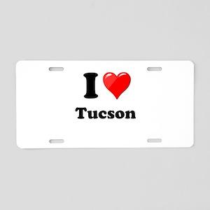 I Heart Love Tuscon Aluminum License Plate