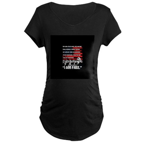 United States of Conformity Maternity Dark T-Shirt