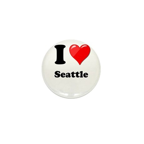 I Heart Love Seattle.png Mini Button (10 pack)