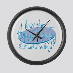 Hopey and Changing Large Wall Clock