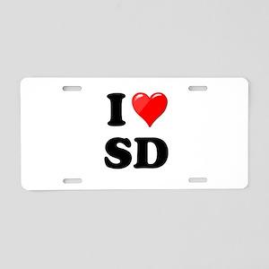 I Heart Love SD San Diego Aluminum License Pla