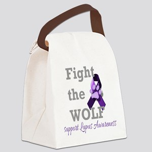 Fight the Wolf Canvas Lunch Bag