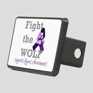 Fight the Wolf Rectangular Hitch Cover