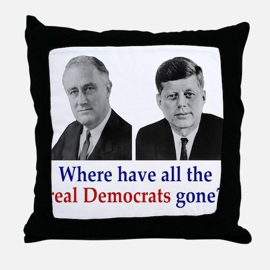 Real Democrats Throw Pillow