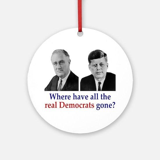 Real Democrats Ornament (Round)