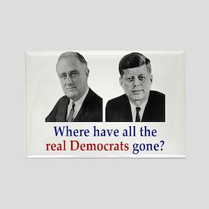 Real Democrats Rectangle Magnet