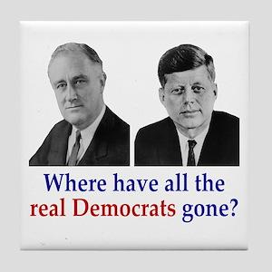 Real Democrats Tile Coaster