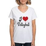 I Love Volleyball Women's V-Neck T-Shirt