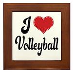 I Love Volleyball Framed Tile