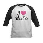I Love Water Polo Kids Baseball Jersey