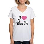I Love Water Polo Women's V-Neck T-Shirt