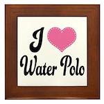 I Love Water Polo Framed Tile