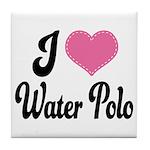 I Love Water Polo Tile Coaster