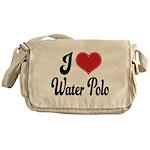 I Love Water Polo Messenger Bag