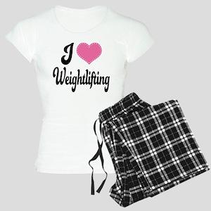 I Love Weightlifting Women's Light Pajamas