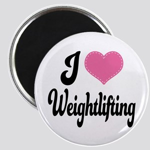 I Love Weightlifting Magnet