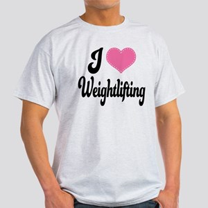 I Love Weightlifting Light T-Shirt
