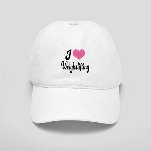 I Love Weightlifting Cap