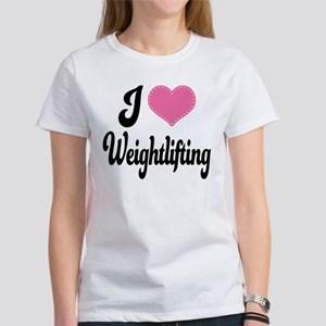 I Love Weightlifting Women's T-Shirt