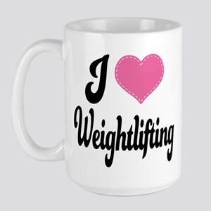 I Love Weightlifting Large Mug