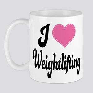 I Love Weightlifting Mug