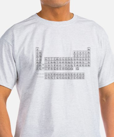 Periodic Table Ash Grey T-Shirt