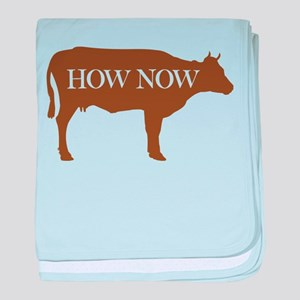 How Now Brown Cow baby blanket