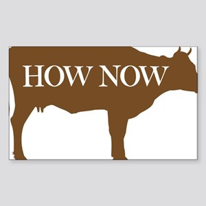 How Now Brown Cow Sticker (Rectangle)