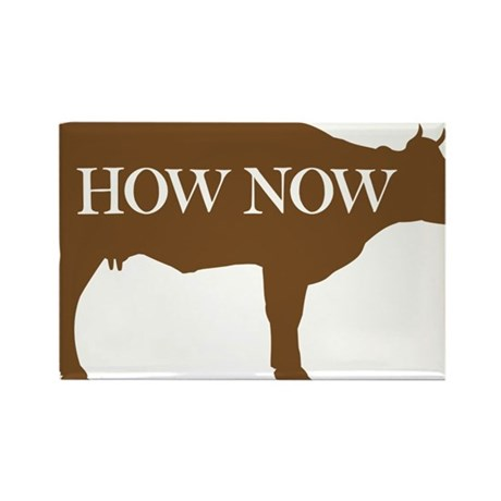 How Now Brown Cow Rectangle Magnet