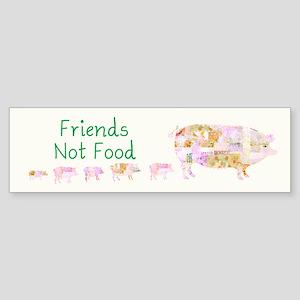 Friends Not Food Sticker (Bumper)