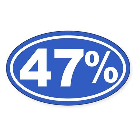 47 Percent Sticker (Oval)