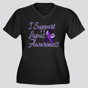 lupus2 Women's Plus Size V-Neck Dark T-Shirt
