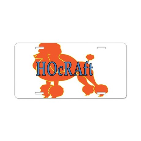 HOcRAft Logo Aluminum License Plate