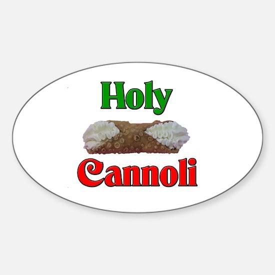 Holy Cannoli Oval Decal