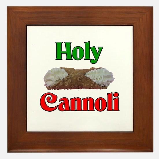 Holy Cannoli Framed Tile