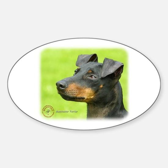 Manchester Terrier 8W13D-12_2 Sticker (Oval)