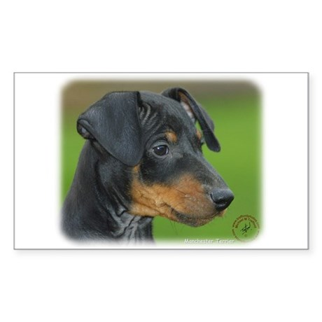Manchester Terrier 9B085D-07_2 Sticker (Rectangle)
