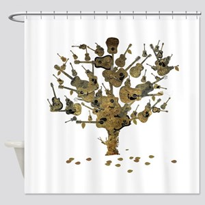 Guitar Tree Shower Curtain