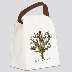 Guitar Tree Canvas Lunch Bag