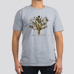 Guitar Tree Men's Fitted T-Shirt (dark)