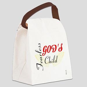 BLO Fearless Gods Child design Canvas Lunch Bag