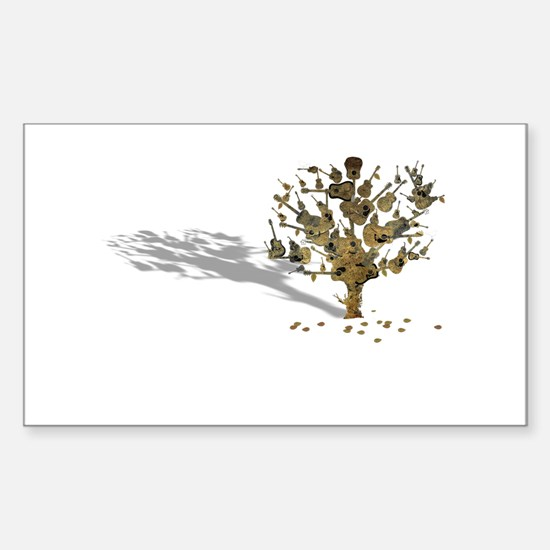 Guitar Tree Sticker (Rectangle)