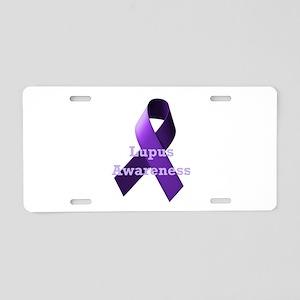Purple Ribbon Lupus Awareness Aluminum License Pla