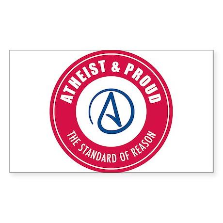Atheist Proud Sticker (Rectangle)