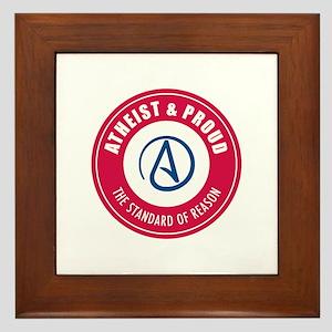 Atheist Proud Framed Tile