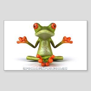 Around Cairns Zen Frog Sticker