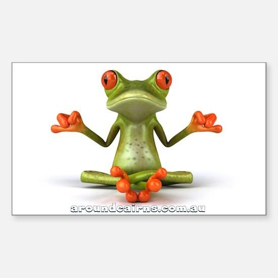 Around Cairns Zen Frog Decal