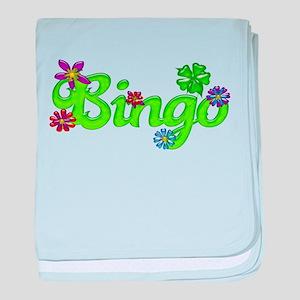 Bingo Bubble Floral baby blanket